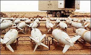 UK Government picture - Iraqi bombs allegedly used to deliver chemical weapons