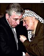 Jack Straw with Yasser Arafat