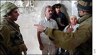 Palestinian family questioned by Israeli soldiers