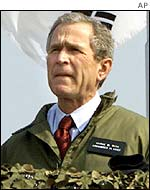 US President George Bush in South Korea - February 2002