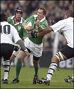 Guy Easterby operated at scrum half for Ireland