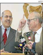 Mohamed El Baradei (left) and Hans Blix