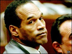 OJ Simpson during the murder trial