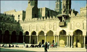 The mosque at Al-Azhar University in Cairo