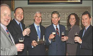 Prince Charles with the all-party beer group