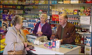 Myra and Jack Evans serve a customer
