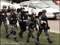 Swat team at Columbine High School