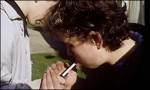 Pupils smoking