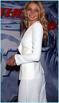 Model Jodie Kidd is all-white tonight