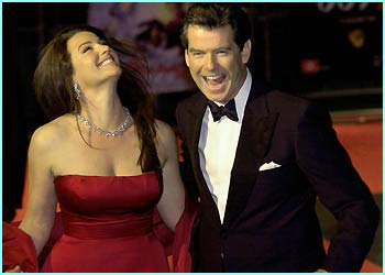 Pierce Brosnan and his wife Keely Shaye-Smith. How happy are THEY?!