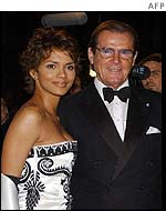 Roger Moore and Halle Berry