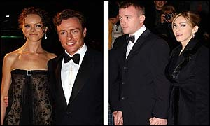 The film's arch villain Toby Stephens and Madonna, with husband Guy Ritchie, helped to celebrate