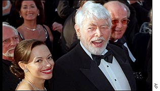 James Coburn with his wife, Paula Murad