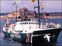 Greenpeace ship the Rainbow Warrior