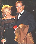 Roger Moore and wife