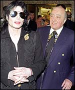 Mohamed Al Fayed and Michael Jackson