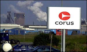The now clodes Corus steel plant