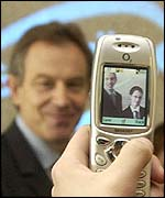 Tony Blair captured on a camera-phone, PA