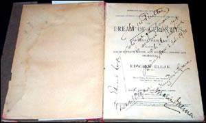 Elgar's Dream of Gerontius, signed by the composer