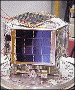 An image of a nano-satellite