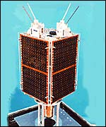 An image of a micro-satellite
