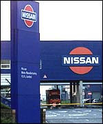 Nissan's car factory in Sunderland