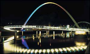 The Millenium Bridge in Newcastle