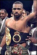 Undisputed light heavyweight champion Roy Jones
