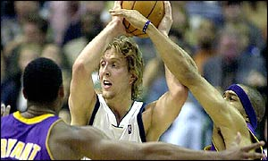 Dallas forward Dirk Nowitzki