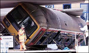 Seven died in the rail crash last May