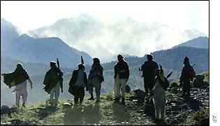 Mujahideen fighters in Tora Bora, Afghanistan