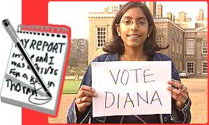 Ria is voting for Princess Diana