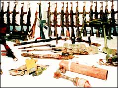 IRA arms cache found by Irish police in 1994