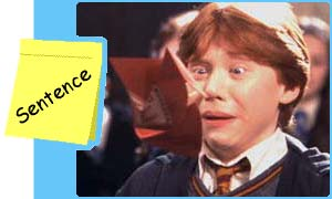 Change Ron's tense from past to future