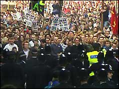 Poll tax demonstration, London, April 1990