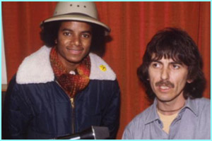 In 1979, before any surgery, with the late George Harrison