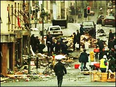 Omagh centre after the blast