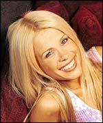 Model and TV presenter Melinda Messenger