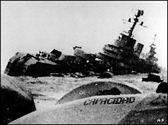 The Belgrano sinks in the South Atlantic