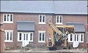 construction of new houses in Poringham