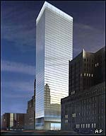 Artist's rendering of 7 World Trade Center