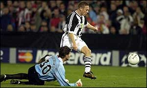 Craig Bellamy in action against Feyenoord in the Champions League