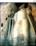 One of the Buddhas at Bamiyan before their destruction