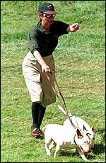 Princess Anne and her dogs in 1998