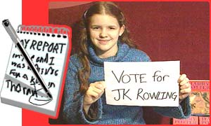 Sarah wants you to vote for JK Rowling