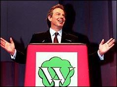 Tony Blair gives his speech to the WI