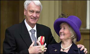 Sir Bobby Robson and wife Elsie