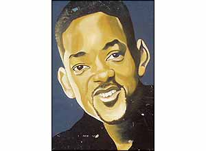 Picture of Will Smith, advertising a barbers' shop