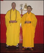 Pol Wong and Shi Xing Du in robes