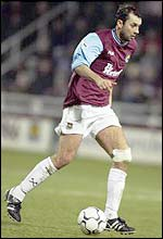 West Ham midfielder Don Hutchison